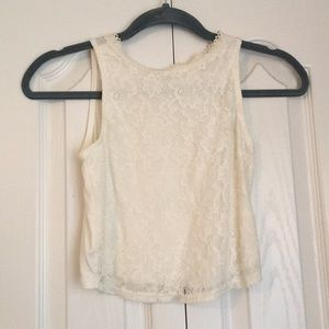 Tops - Lace Crop Top (worn once)